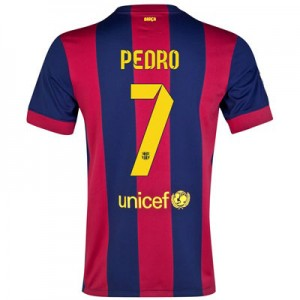 Camiseta Barcelona PEDRO Primera Equipacion 2014/2015