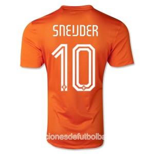 Camiseta nueva Holanda de la Seleccion Sneijder Primera WC2014