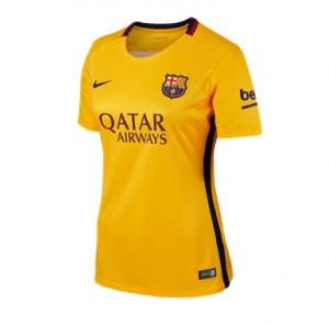 Camiseta de Barcelona 2015/2016 Segunda Equipacion Mujer