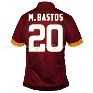 Camiseta del M.Bastos AS Roma Primera Equipacion 2014/2015