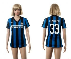 Camiseta nueva Inter Milan Mujer 33 2015/2016