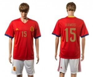 Camiseta nueva del España 2015-2016 15#