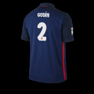 Camiseta nueva del Atletico Madrid 2015/2016 Equipacion GODIN Segunda