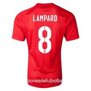 Camiseta nueva del Inglaterra de la Seleccion WC2014 Lampard Segunda