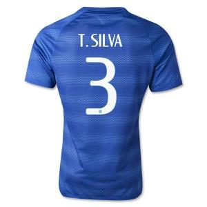 Camiseta nueva del Brasil de la Seleccion WC2014 T.Silva Segunda
