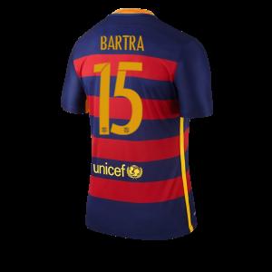 Camiseta nueva del Barcelona 2015/2016 Equipacion Numero 15 BARTRA Primera
