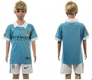 Camiseta Manchester City 1# 2015/2016 Niños