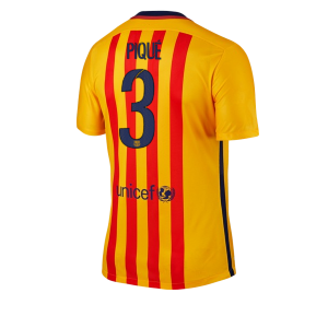 Camiseta nueva del Barcelona 2015/2016 Equipacion Numero 03 PIQUE Segunda