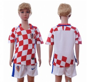 Camiseta Croacia Primera Segunda 2016 Niños
