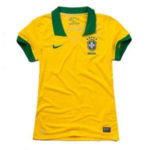 Camiseta de Brasil de la Seleccion 2013/2014 Primera Mujer